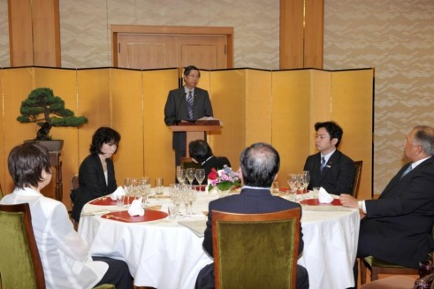 Ambassador Lopez delivers his remarks as current Chair of the ASEAN Committee in Tokyo before ACT and House of Councillors members.