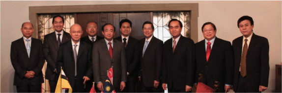 L-R- Ambassadors of Myanmar, Indonesia, Singapore,  Malaysia (back), Cambodia (front), Brunei, Philippines, Laos, Thailand and Vietnam (CDA a.i.)