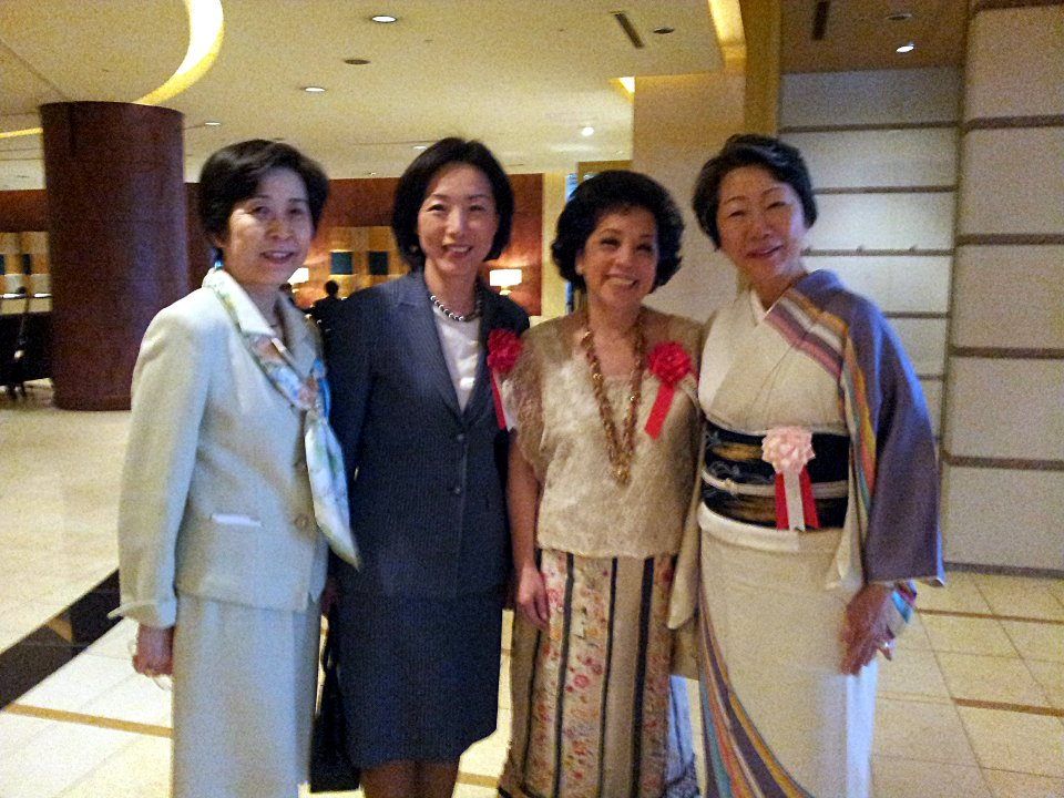 (From Left to Right) ALFS Executive Director Hanayo Kato, Madame Sosan Hong, Madame Maria Teresa Lopez, and ALFS President Haruko Komura.