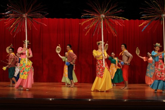 Tokyo Gaidai dancers, most of whom take up Philippine studies, perform the subli.