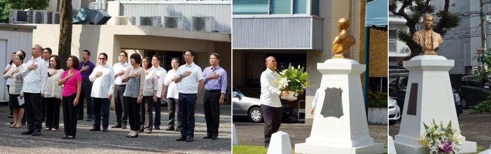 Philippine Embassy Officers and Staff Commemorate 153rd Birth Day of National Hero Dr. Jose Rizal