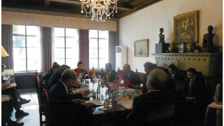 Ambassador Lopez chairs the ACT Meeting at the Official Residence (photo: Ms. Amalia Sibug)