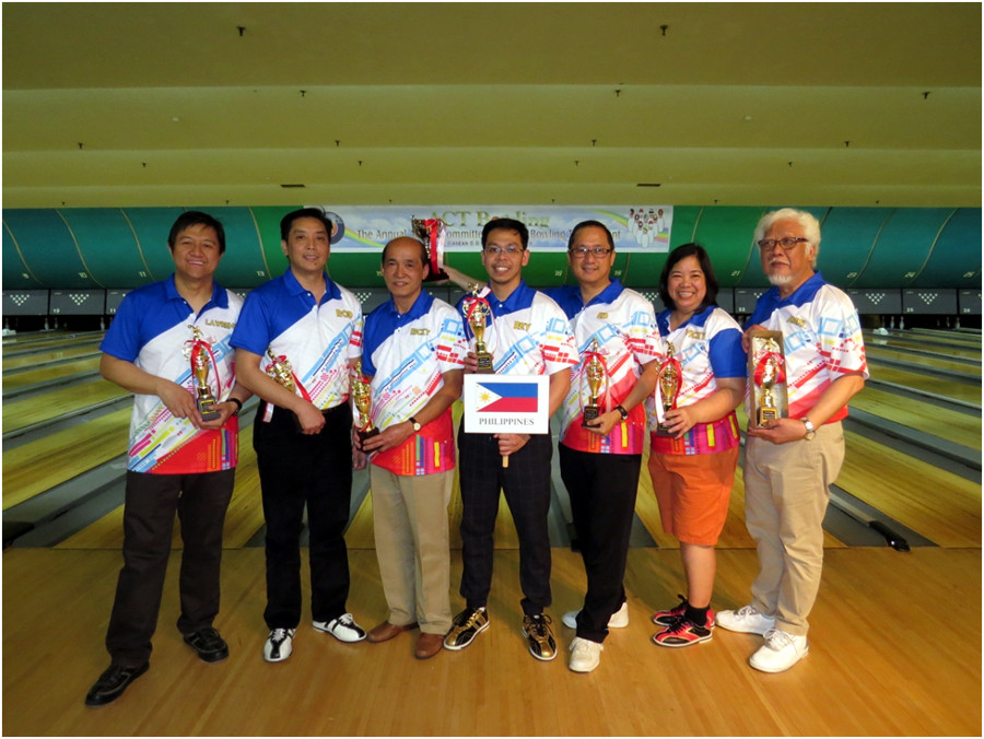 Champion Team – Philippine Embassy (Photo by Mr. Mark Akim; Bowling Uniforms courtesy of Ms. Bong Coo.)