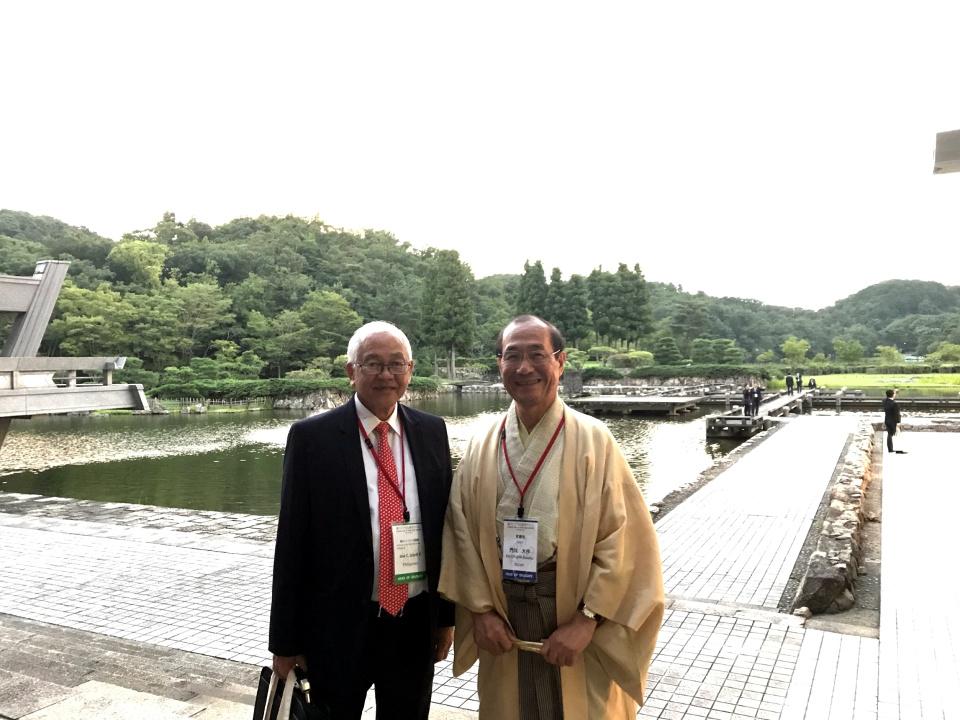 Ambassador Laurel with Kyoto City Mayor, Daisaku Kadokawa.