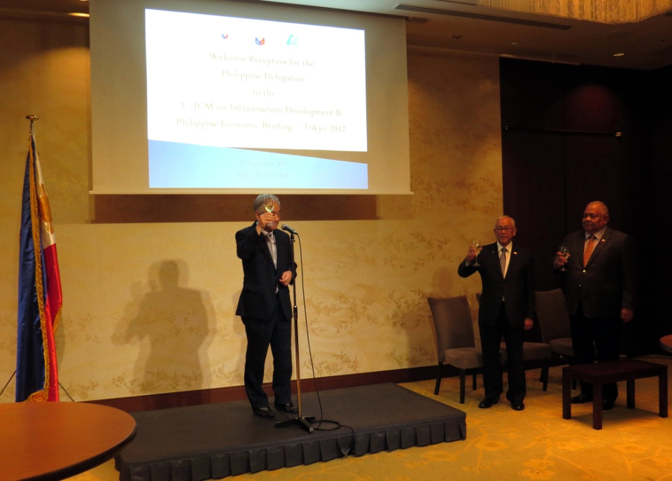 ASEAN-Japan Centre Secretary-General Masataka Fujita offers his toast remarks