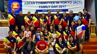 Philippine Embassy personnel and family members join in the ACT Family Day.