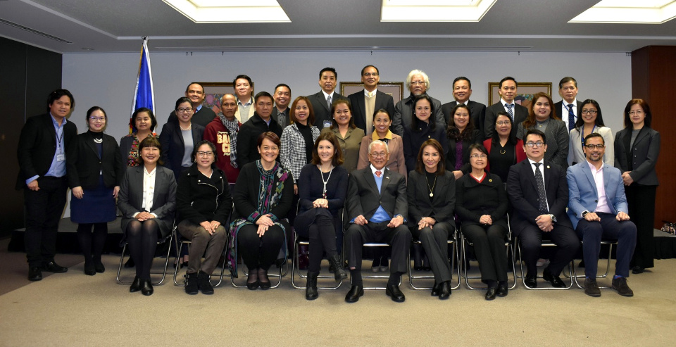 The House Committee on Population and Family Relations with Amb. Jose C. Laurel V and the Philippine Embassy's organizing Committee for the Public Hearing (Tokyo PE/Mark Akim)