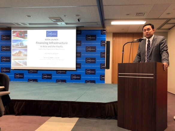 Secretary Mark Villar as keynote speaker for ADBI Book Launch on Financing Infrastructure
