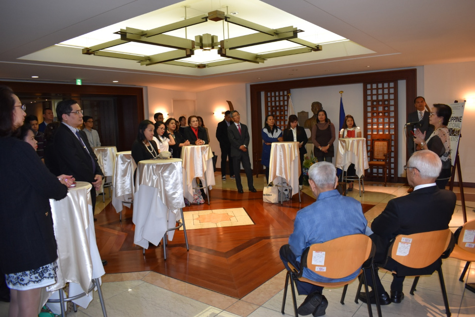 Embassy personnel, officers and members of the Filipino Community in Tokyo, Filipino and Japanese students were present during the opening ceremony.