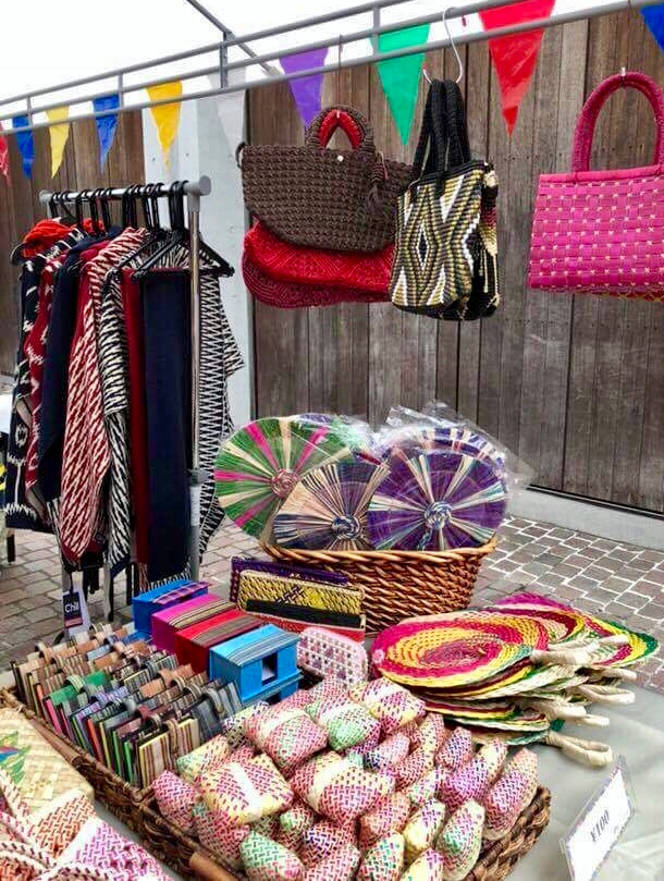 Some of the items on display included native fans by Unique Weavers Assn. of Quezon, bags by Yvette, Shawls and Bolero by Chill by Nooks, office items by CustomMade Crafts Center. (Photo Credit: Ms. MJ Duran-Mortel)