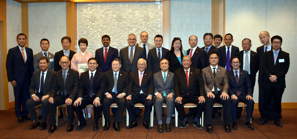 The Philippine Delegation with representatives from the private sectors in the Philippines and Japan. The country's top economic and infrastructure managers discussed in detail developments in the Philippines' economic performance, socioeconomic priorities, and fiscal policies and infrastructure developments.