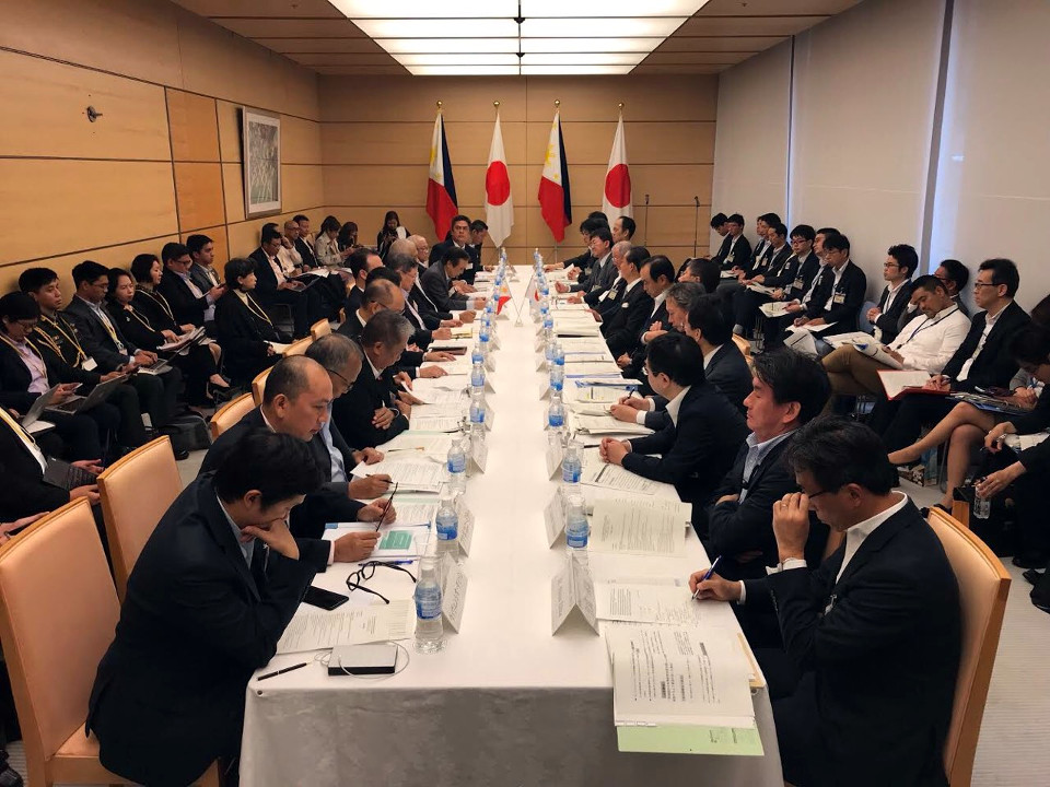 High-level officials from the Philippines (left side) and Japan (right side) comprising the Joint Committee on Infrastructure Development and Economic Cooperation convene its fifth meeting in Tokyo, Japan (Photo by the Department of Finance)