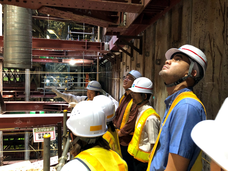 COCODA conducts a subway construction site visit near Shin-Yokohama Station in Kanagawa Prefecture. Photos by Ms. Diane Bartolome