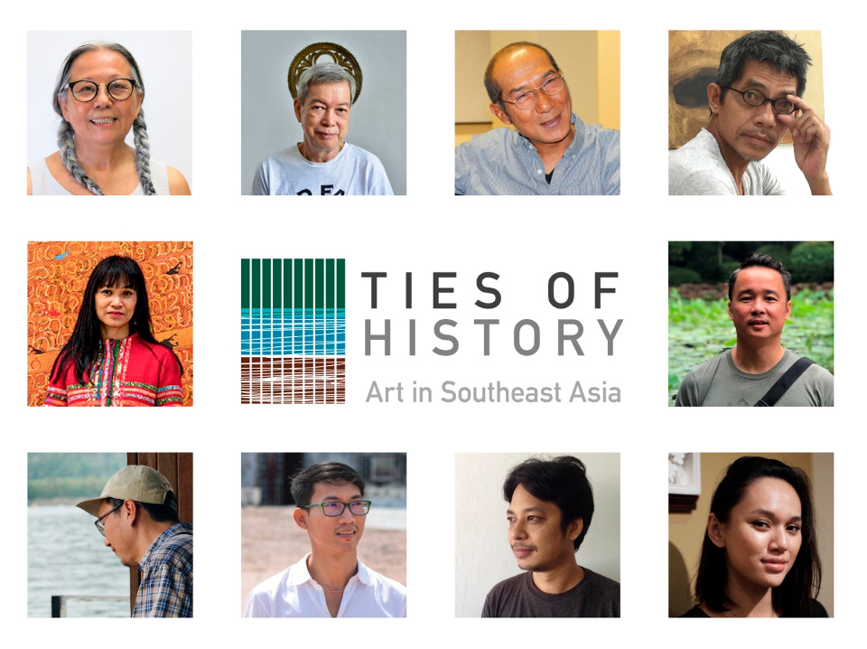The ten (10) featured artists are the following (L-R clockwise): Amanda Heng (Singapore), Roberto Feleo (Philippines), Anusapati (Indonesia), Do Hoang Tuong (Vietnam), Chris Chong Chan Fui (Malaysia), Yasmin Jaidin (Brunei), Min Thein Sung (Myanmar), Vuth Lyno (Cambodia), Jedsada Tangtrakulwong (Thailand) and Savanhdary Vongpoothorn (Laos).