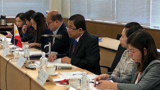 NEDA Deputy Director General Rolando G. Tungpalan (third from right) leads the Philippine Delegation to the Philippines-Japan High Level Policy Consultation on Thursday, August 30, 2018 at the Ministry of Foreign Affairs in Tokyo. Seated with DDG Tungpalan are Assistant Secretary Maria Edita Z. Tan of the Department of Finance and Assistant Secretary-designate Rolando Toledo of the Department of Budget and Management.