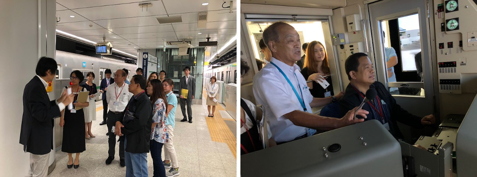 Among the facilities in the Learning Center are the subway mock platform and the train simulator where Usec. Tungpalan tries his hands at driving a subway train.