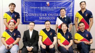 The Embassy outreach team with Honorary Consul Ken Tobe.