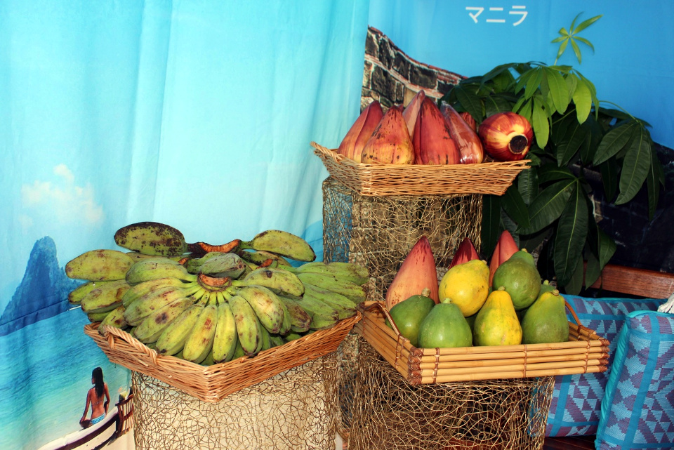 The Philippine booth also featured Philippine mangoes, saba banana, banana heart, and papaya.