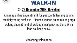 announcement 22 Nov 2018