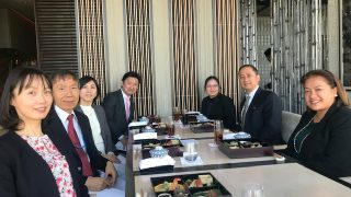 Deputy Chief of Mission Eduardo M.R. Meñez  (second from right) hosts a New Year lunch for the officials of Japan Aerospace Exploration Agency (JAXA) and the Ministry of Education, Culture, Sports and Technology (MEXT) to discuss  possible areas of cooperation on science and technology and space education.