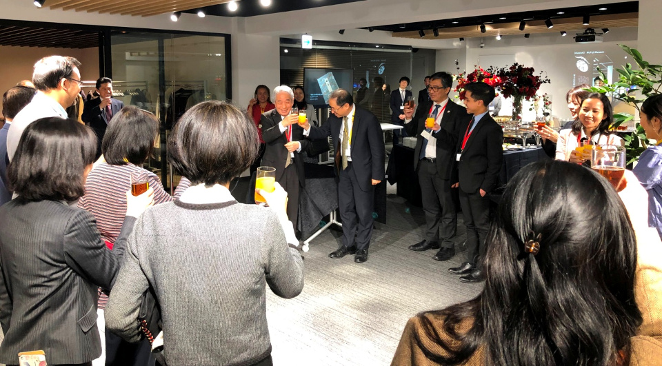 Philippine Embassy Deputy Chief of Mission Eduardo Meñez and ASEAN-Japan Centre Secretary General Masataka Fujita offered a toast at the networking reception.